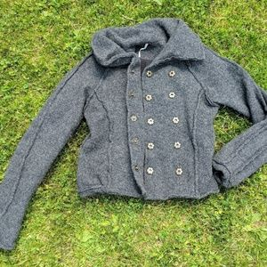 Button-up Wool jacket/coat